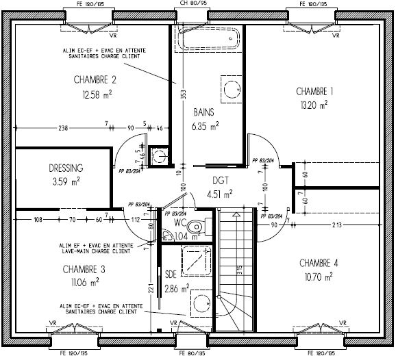 Plans maison familiale le blog de la construction de for Les plon des maison